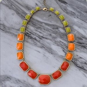 Jewelry - Fun Multicolor Stone and Goldtone Fashion Necklace